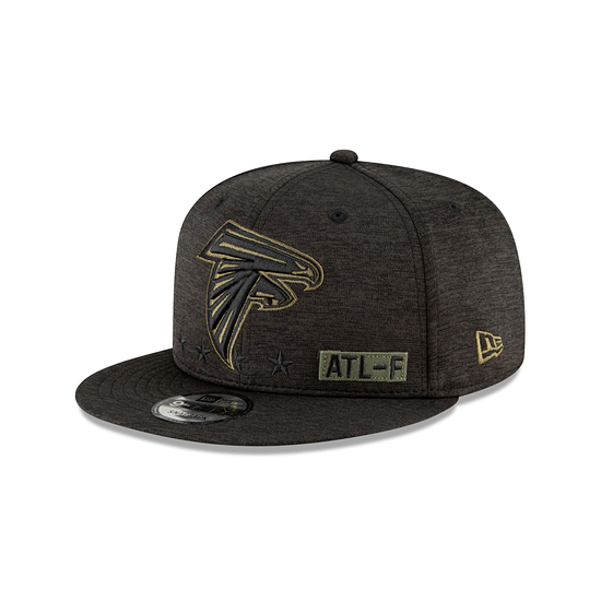 New Era Atlanta Falcons Cap Salute To Service 2020 9FIFTY schwarz
