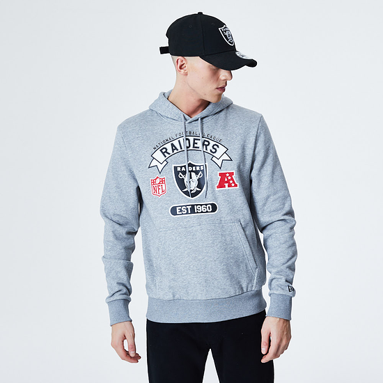 New Era Las Vegas Raiders Hoodie Graphic grau