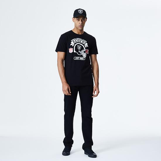 New Era Las Vegas Raiders T-Shirt Graphic Helmet schwarz