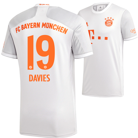 Adidas FC Bayern München Auswärts Trikot DAVIES 2020/2021