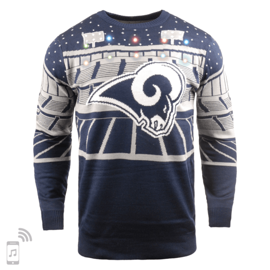 Forever Collectibles Los Angeles Rams Ugly Sweater Bluetooth blau/grau