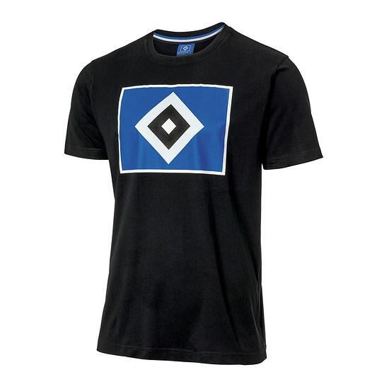 Hamburger SV T-Shirt RAUTE Schwarz
