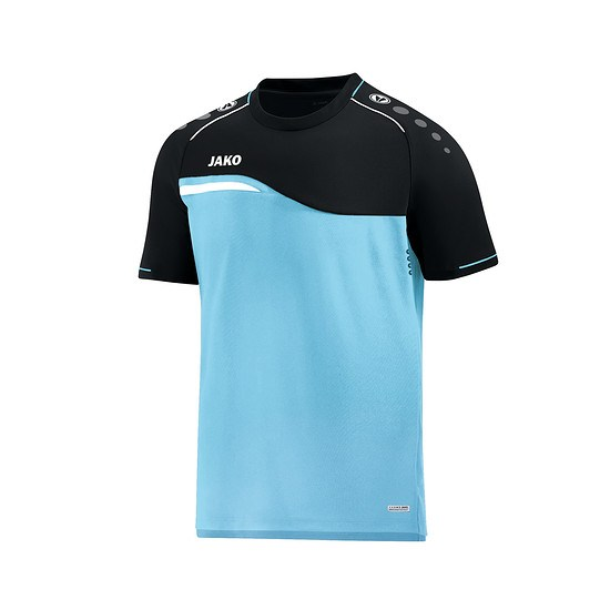 Jako T-Shirt Competition 2.0 aqua/schwarz