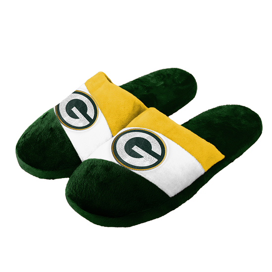 Forever Collectibles Green Bay Packers Hausschuhe Colourblock grün/weiß/gelb