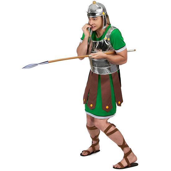 Karnevals- Kostüm Römischer Legionär Gladiator grün/braun