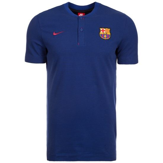 Nike FC Barcelona Poloshirt Modern Authentic dunkelblau/rot
