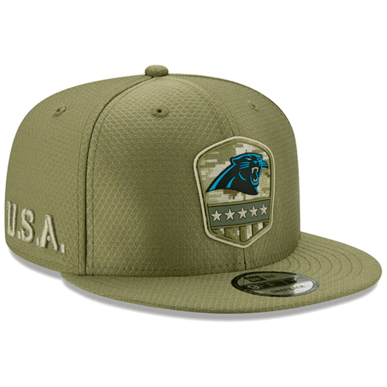 New Era Carolina Panthers Cap Salute To Service 9FIFTY oliv