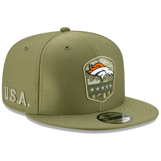 New Era Denver Broncos Cap Salute To Service 9FIFTY oliv