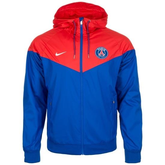 Nike Paris Saint-Germain Jacke Windrunner Basic Blau/Rot