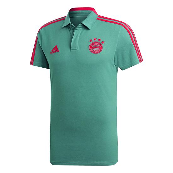 Adidas FC Bayern München 3S Polo Shirt Logo Grün