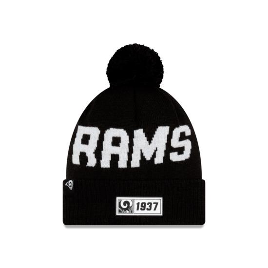 New Era Los Angeles Rams Beanie Sport Knit RD schwarz