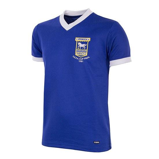 Copa Ipswich Town 1980/81 Short Sleeve Retro Shirt