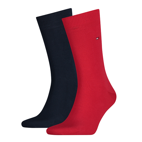 Tommy Hilfiger Socken 2er Pack ICONIC CLASSIC Schwarz/Rot