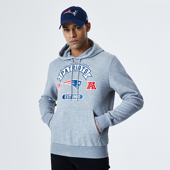New Era New England Patriots Hoodie Graphic grau