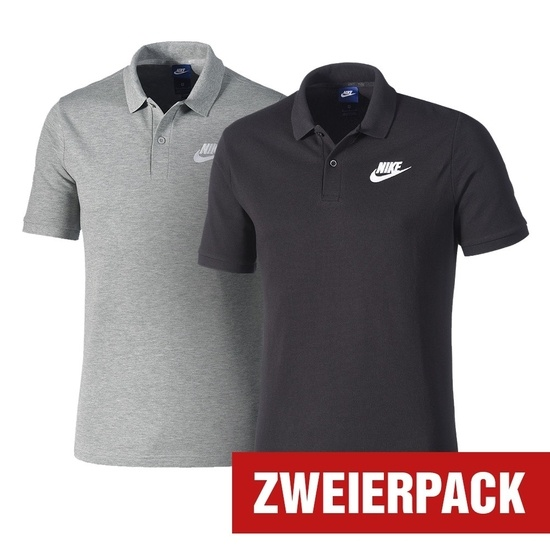 Nike Polo Shirt BASIC Set 2er Pack Schwarz/Dunkelgrau