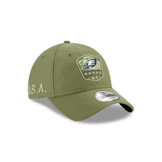New Era Philadelphia Eagles Cap Salute To Service 2019 9TWENTY oliv