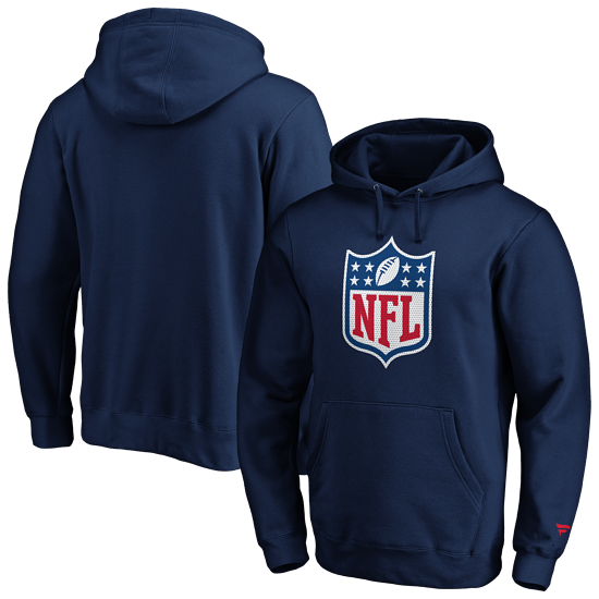Fanatics NFL Shield Hoodie Overhead Graphic navy