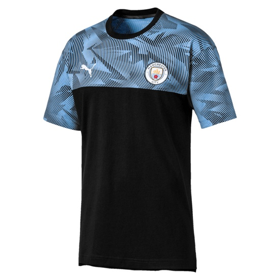 Puma Manchester City Trainingsshirt Casuals schwarz/blau