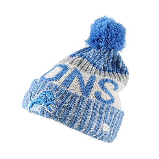 New Era Detroit Lions Bommelmütze Sport Knit weiß/blau
