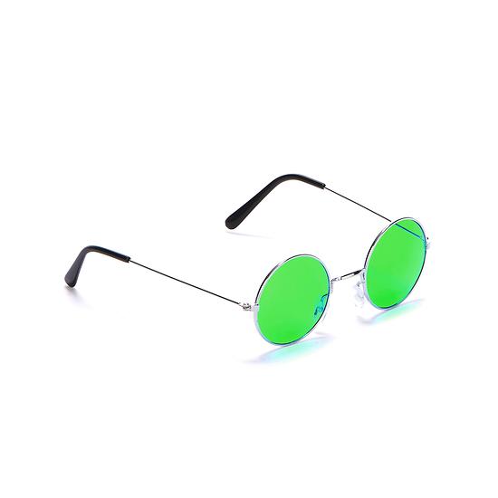 Karnevals- Brille Hippie 70er Jahre grün