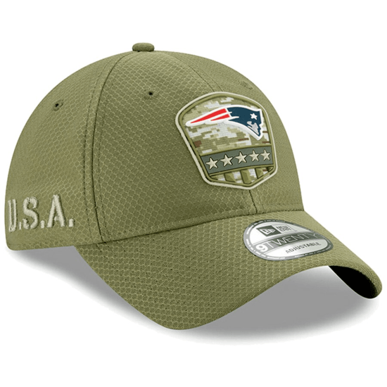 New Era New England Patriots Cap Salute To Service 2019 9TWENTY oliv