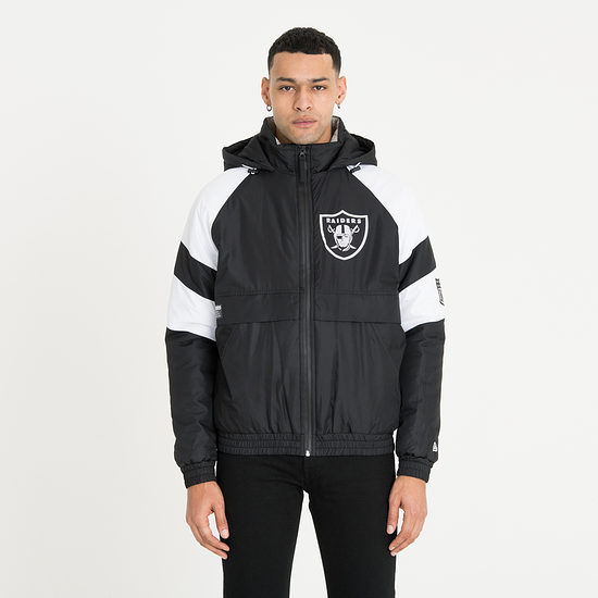 New Era Oakland Raiders Jacke Puffer schwarz
