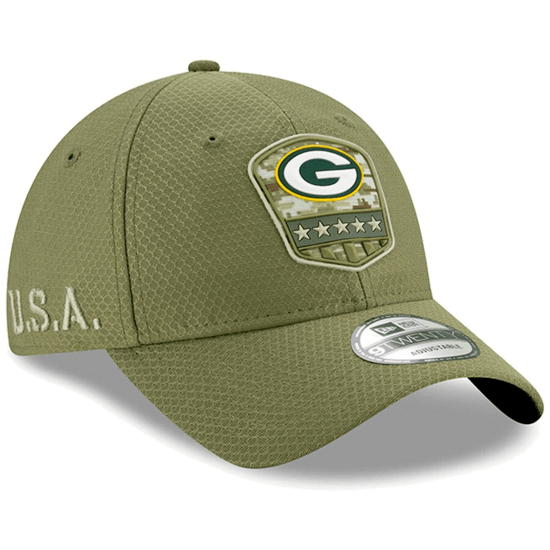 New Era Green Bay Packers Cap Salute To Service 9TWENTY oliv