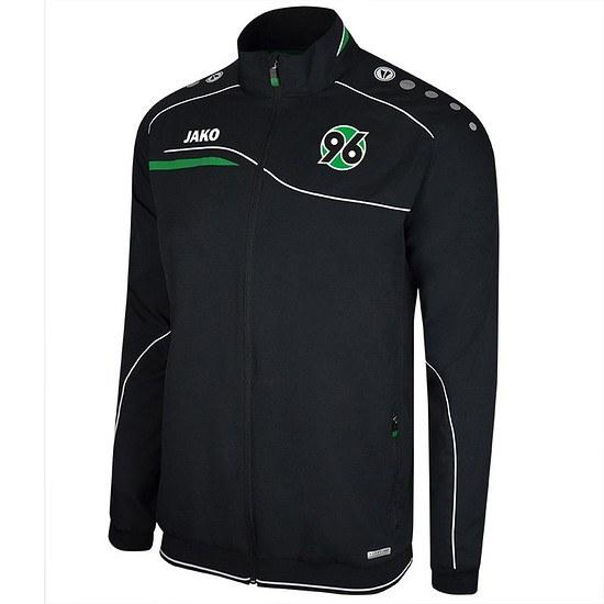 Jako Hannover 96 Einlaufjacke schwarz/grün