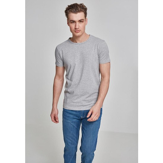 URBAN CLASSICS T-Shirt Fitted Stretch Hellgrau