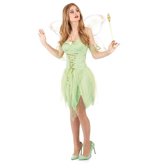 Karnevals- Kostüm Sexy Märchenfee Damen lindgrün/gold