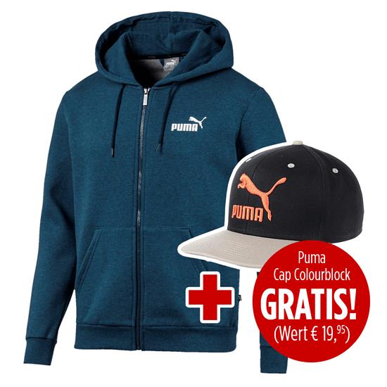 Puma Kapuzenjacke ESS mit Cap Colourblock 2er Set marine/schwarz/orange