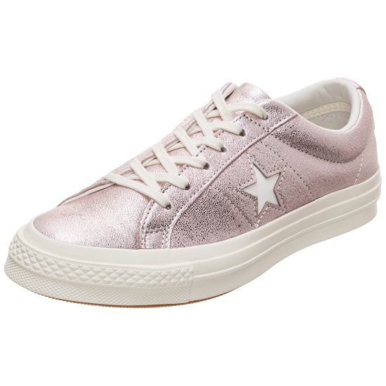 CONVERSE Sneaker Cons One Star Metallic Leather OX rosa/silber