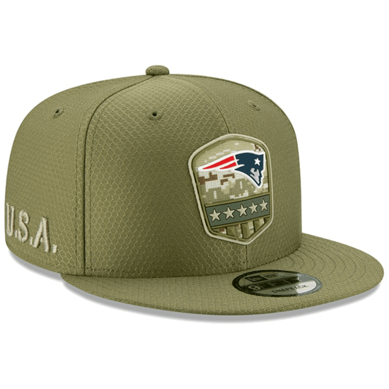 New Era New England Patriots Cap Salute To Service 9FIFTY oliv