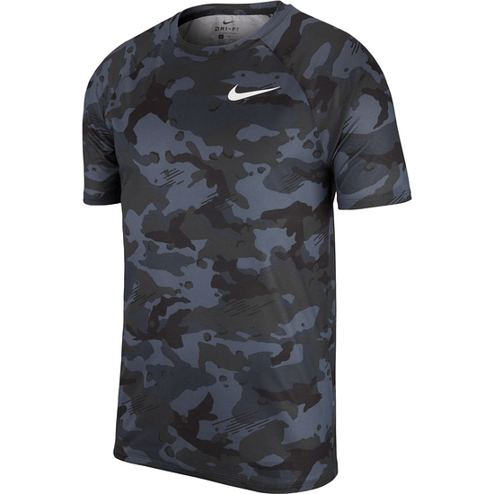 Nike T-Shirt Dry Legend CAMO Schwarz/Grau