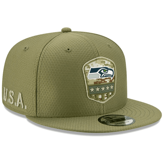 New Era Seattle Seahawks Cap Salute To Service 9FIFTY oliv