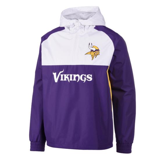 New Era Minnesota Vikings Windbreaker lila/weiß
