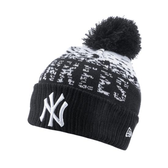 New Era New York Yankees Beanie Sport Knit Kids schwarz/weiß