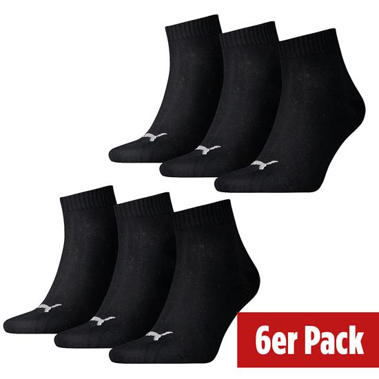 Puma Socken 6er Pack Low Schwarz