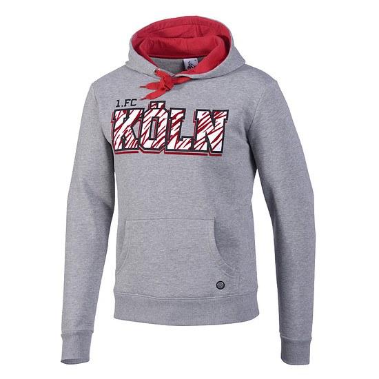 1. FC Köln Hoodie Feuerbachstraße grau