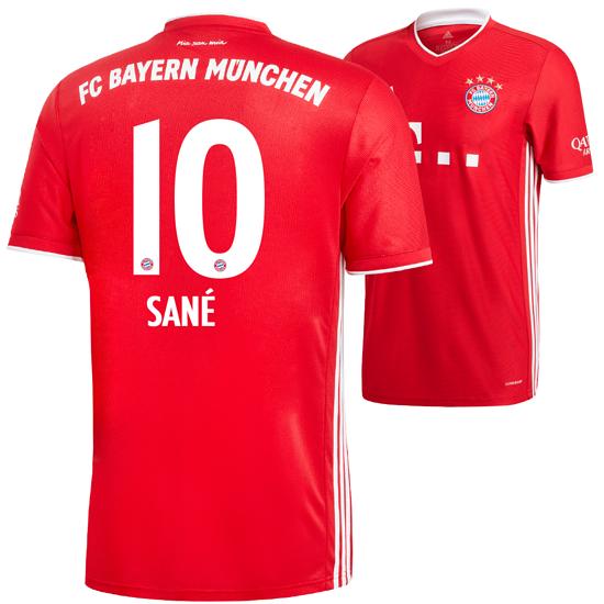 Adidas FC Bayern München Heim Trikot SANÉ 2020/2021 Kinder