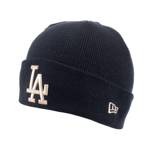 New Era Los Angeles Dodgers Beanie League Essential Cuff Knit schwarz