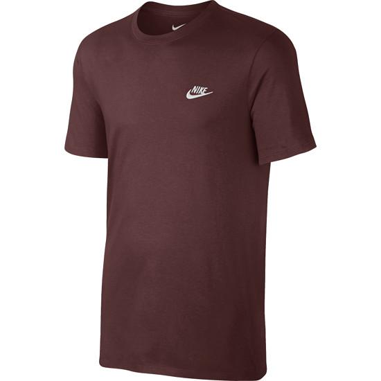 Nike T-Shirt Club Futura Dunkelrot/Weiß