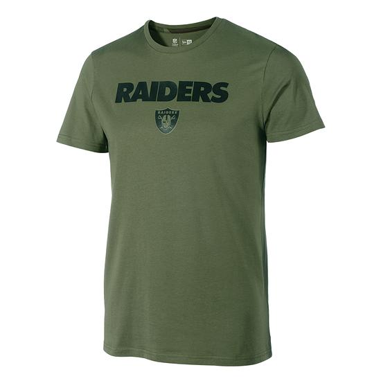 New Era Las Vegas Raiders T-Shirt Wordmark Camo oliv