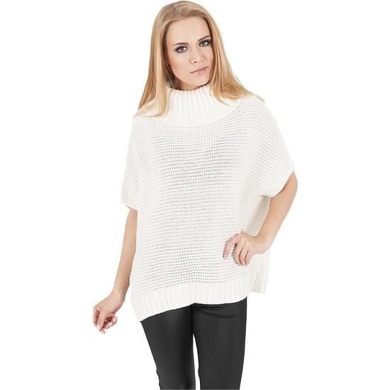 URBAN CLASSICS Poncho Knitted Damen Weiß