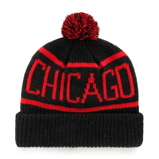 47 Brand Chicago Blackhawks Beanie Calgary schwarz