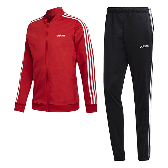 Adidas Trainingsanzug 3 Streifen Rot