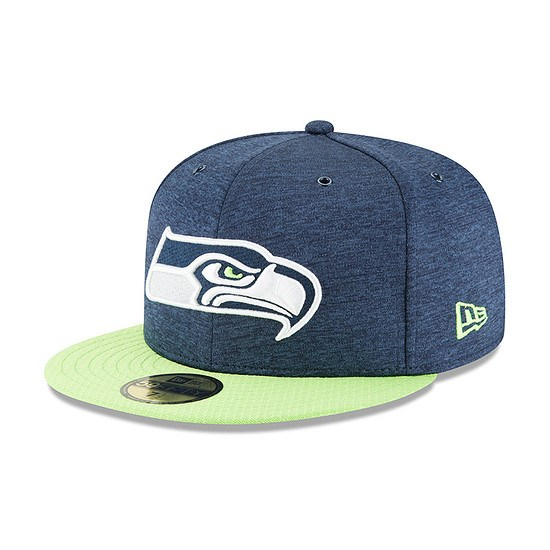 New Era Seattle Seahawks Cap 59FIFTY Sideline Home blau/grün