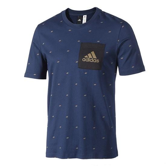 Adidas T-Shirt Seasonal ESS Blau