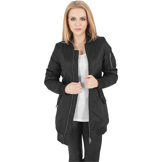 new product 2773d e6414 URBAN CLASSICS Bomberjacke Long Damen