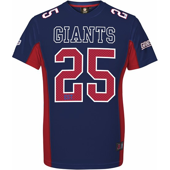 Majestic Athletic New York Giants T-Shirt Moro Poly Mesh blau